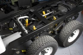 MDT 6x6 rear frame and suspension